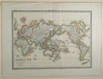 Mappe-Monde sur la Projection de Mercator Dressée par Mr. Lapie, Colonel d état Maj'r et Mr. Lapie fils Capitaine d'État Major